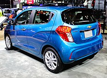 2019 Chevrolet Spark LT (M400 facelift) rear NYIAS 2019.jpg