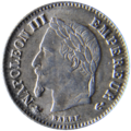 20 centimes Napoléon III 1867 Avers.png