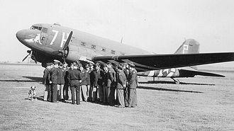 RAF Weston Zoyland - C-47s of the 306th Troop Carrier Squadron