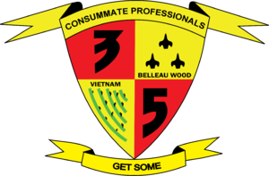 3rd Battalion, 5th Marines - Former insignia for 3rd Battalion, 5th Marines, discontinued in 2004.