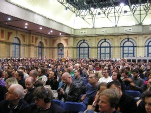 European Social Forum - One of many packed meetings at the ESF 2004