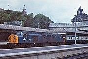 'Split headcode' No.40142 at Edinburgh Waverley in 1977.