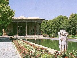 View of Chehel-sotoon Palace, Isfahan, Iran.