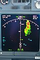 737NG Navigation Display with weather radar showing. (5734080397).jpg