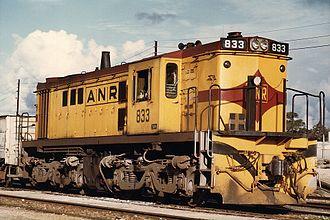 South Australian Railways 830 class - 833 at Mount Gambier in July 1983