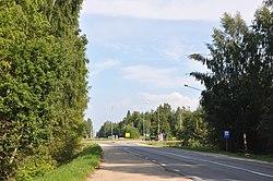 A12 road in Lejas Ančupāni 2011-08-07.jpg