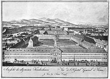 Von Joseph errichtetes Allgemeines Krankenhaus der Stadt Wien (1784) (Quelle: Wikimedia)