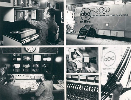 Publicity photo of the mobile studios used by ABC in 1976. ABC Television Mobile Unit 1976.JPG