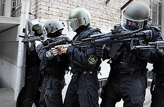 Federal Penitentiary Service - FSIN Special Forces during a FAB Defense training exercise