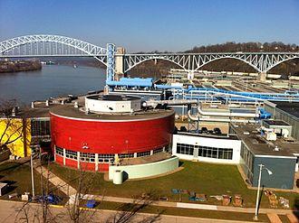 Allegheny County Sanitary Authority - ALCOSAN plant, on the Ohio River next to the McKees Rocks Bridge