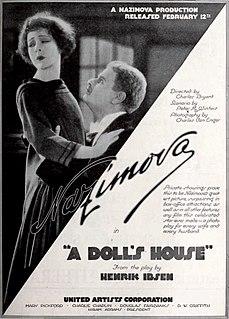 <i>A Dolls House</i> (1922 film) 1922 film by Charles Bryant