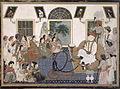 A European in Delhi watching a nautch and smoking a hookah - Anon, c.1820 - BL Add.Or.2.jpg