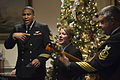 A Navy band performs as Secretary of Defense Ash Carter hosts Indian Minister of Defense Manohar Parrikar during a dinner at the Pentagon.jpg