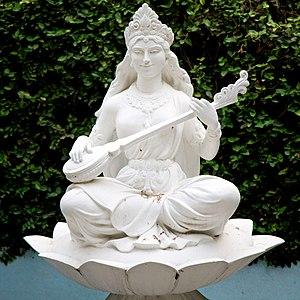 Devi-Bhagavata Purana - Image: A Saraswati Statue in park