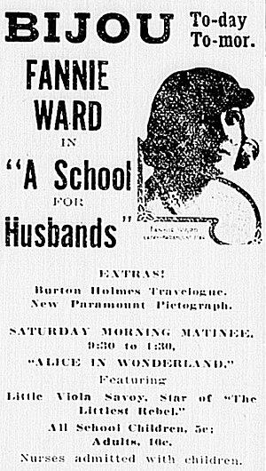 A School for Husbands - Newspaper advertisement