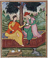 A man and woman seated beneath a tree (6124532509).jpg