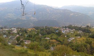 Bajung - A view of Bajung from Bajung Kot