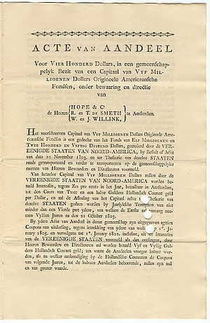 Willem Willink - Image: Aandeel Louisiana Purchase