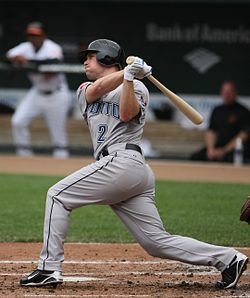 Aaron Hill swinging at a pitch in 2009.jpg