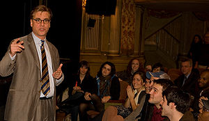 The Farnsworth Invention - Aaron Sorkin discussing The Farnsworth Invention with an audience at the Music Box Theatre on November 8, 2007