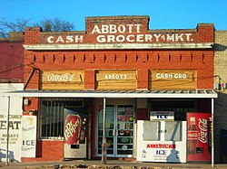 The Abbott grocery store.