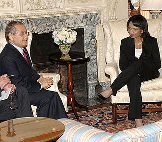 Abdelwahab Abdallah - Abdelwahab Abdallah with Condoleezza Rice