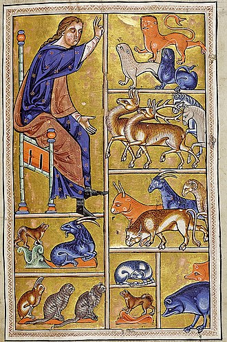 Bestiary - Detail from the 12th century Aberdeen Bestiary