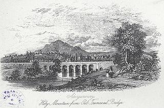 Abergavenny, Holy Mountain from Old Tramroad Bridge