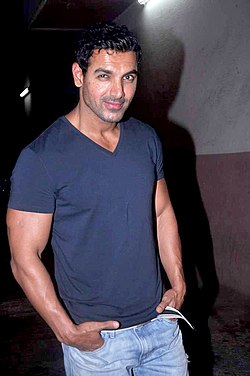 Abhishek's screening of 'Bol Bachchan' for John Abraham 02.jpg