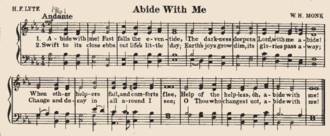 """Abide with Me - The hymn set to """"Eventide"""""""