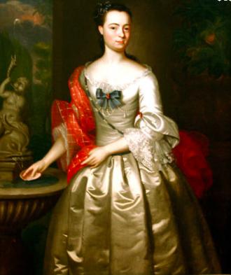 Jonathan Belcher (jurist) - Jonatan's wife Abigail Belcher by John Singleton Copley