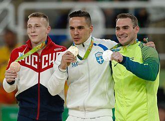 Denis Ablyazin - Ablyazin, bronze medalist in men's rings at the 2016 Summer Olympics