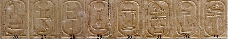 Archivo:Abydos Koenigsliste 26-33.jpg