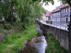 Abzucht (Oker) - The Abzucht in the historic Altstadt of Goslar