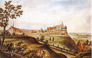 Christoph Martin Wieland - View of Schloss Warthausen by Johann Heinrich Tischbein (1781)