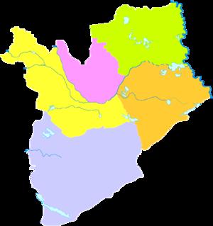 Baicheng - Image: Administrative Division Baicheng