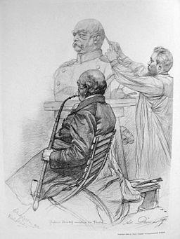 Adolf von Donndorf modelliert Bismarck