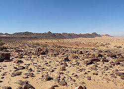 Landscape of the stony desert known as Reg de l'Adrar