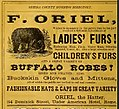 Advertisement for F. Oriel Furrier, Rome New York - ladies' furs, children's furs, buffalo robes.jpg