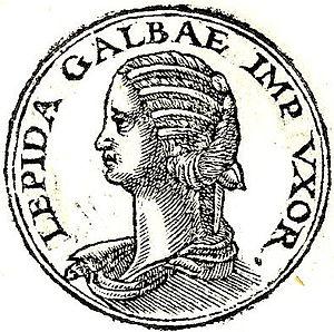 Aemilia Lepida - Aemilia Lepida from the Promptuarii Iconum Insigniorum