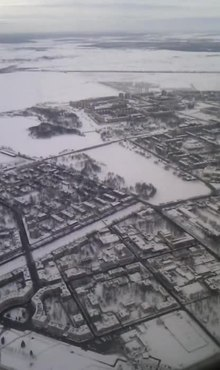 Файл:Aerial Kolpino winter.ogv