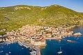 Aerial view of Lucica Beach in Komiza, Croatia (48608671701).jpg