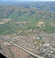 Aerial view of Phoenix Arizona mountains and city and highways.JPG