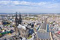 Aerial view of the Cologne Cathedral and the central railway station in Cologne, Germany (48986454878).jpg