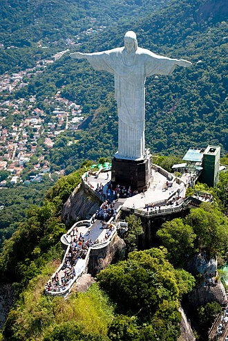 Christ the Redeemer (statue) - Aerial view of the statue.