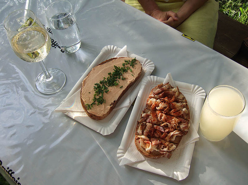 Liptauerbrot, Speckbrot und Sturm. From an eating tour of Austria
