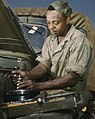 African American mechanic, motor maintenance section, Ft. Knox, KY (cropped).jpg