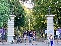 Agrykola Street gate to Łazienki Park in Warsaw, Poland, 2019, 02.jpg