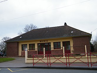 Aigneville - The town hall of Aigneville
