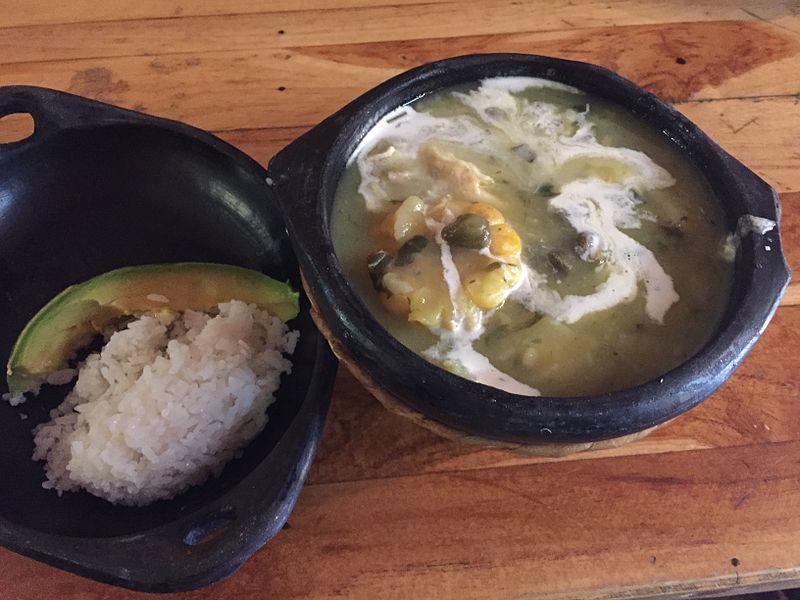 Comida de inverno na Colombia